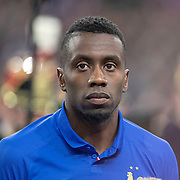 PARIS, FRANCE - March 25:  Blaise Matuidi #14 of France lines up with the French team during the National Anthems before the France V Iceland, 2020 European Championship Qualifying, Group Stage at  Stade de France on March 25th 2019 in Paris, France (Photo by Tim Clayton/Corbis via Getty Images)