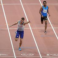 Chris McAlister (Great Britain), Dharun Ayyasamy (India), 400 Metres Hurdles Men - Round 1, Heat 5, during the 2019 IAAF World Athletics Championships at Khalifa International Stadium, Doha, Qatar on 27 September 2019.