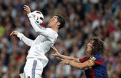 16-04-2011 VOETBAL: REAL MADRID - BARCELONA: MADRID<br /> Cristiano Ronaldo, Carles Puyol <br /> ©2011-RHP/ EXPA/ Alterphotos/ ALFAQUI/ Cesar Cebolla<br /> *** NETHERLANDS ONLY ***