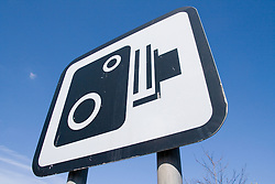 Road Sign warning motorists that there is a speed camera on the road ahead,