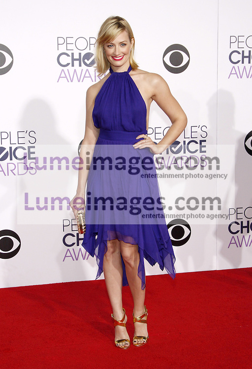 Beth Behrs at the 41st Annual People's Choice Awards held at the Nokia L.A. Live Theatre in Los Angeles on January 7, 2015. Credit: Lumeimages.com