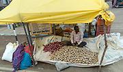 Selling potatoes in jabalpur, Madhya Pradesh, india.