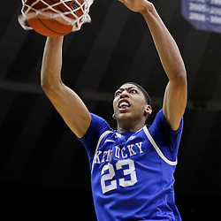 January 28, 2012; Baton Rouge, LA; Kentucky Wildcats forward Anthony Davis (23) dunks against the LSU Tigers during the first half of a game at the Pete Maravich Assembly Center.  Mandatory Credit: Derick E. Hingle-US PRESSWIRE