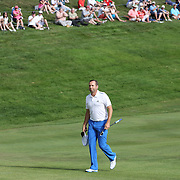 Sergio Garcia, Spain, heads up the fairway on the 18th  during the final round of the Travelers Championship at the TPC River Highlands, Cromwell, Connecticut, USA. 22nd June 2014. Photo Tim Clayton