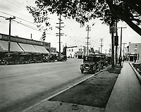 1922 Looking east on Santa Monica Blvd. at Crescent Heights Blvd.