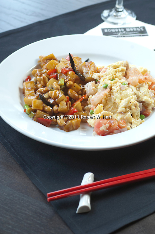 Brunch dishes at Howard Wang's Uptown China Brasserie on May 28, 2011..Robert W. Hart/Special Contributor