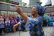 Adults choir, made from choirs from all over the region, perform at The Scoop under the instruction of a choral conductor. Totally Thames takes place over the whole month in September, combining arts, cultural and river events presented by Thames Festival Trust throughout the 42-mile stretch of the River Thames in London, UK.