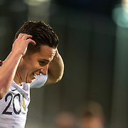ANDORRA LA VELLA, ANDORRA. June 1.  Florian Thauvin #20 of France celebrates after scoring his sides third goal during the Andorra V France 2020 European Championship Qualifying, Group H match at the Estadi Nacional d'Andorra on June 11th 2019 in Andorra (Photo by Tim Clayton/Corbis via Getty Images)