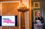 22-3-2017 THE HAGUE - Queen Maxima speaks Prof. Erik Scherder, Professor of Clinical Neuropsychology at the University of Amsterdam on the effects of music on the child's brain. In interactive workshops then bend the more than 200 existing teachers, school principals and administrators over the possibilities of introducing structural music and embed within their schools. During the joint conclusion of the proceeds of the workshops will be shared and translated into concrete actions. Queen Máxima receives the guests at Noordeinde Palace as honorary chairman of the Platform Ambassadors and is working with the Ambassadors of More Music in the Classroom for structural music education for all children in the basisschool.COPYRIGHT ROBIN UTRECHT<br /> <br /> 22-3-2017 DEN HAAG - Koningin Maxima spreekt prof.dr. Erik Scherder, hoogleraar Klinische Neuropsychologie aan de Vrije Universiteit Amsterdam over de effecten van muziekonderwijs op het kinderbrein. In interactieve workshops buigen de ruim 200 aanwezige leerkrachten, schooldirecteuren en bestuurders zich vervolgens over de mogelijkheden om structureel muziekonderwijs te introduceren en verankeren binnen hun basisscholen. Tijdens de gezamenlijke afsluiting worden de opbrengsten van de workshops gedeeld en omgezet in concrete acties. Koningin Máxima ontvangt de genodigden op Paleis Noordeinde als erevoorzitter van het Platform Ambassadeurs en zet zich samen met de Ambassadeurs van Meer Muziek in de Klas in voor structureel muziekonderwijs voor alle kinderen op de basisschool.COPYRIGHT ROBIN UTRECHT
