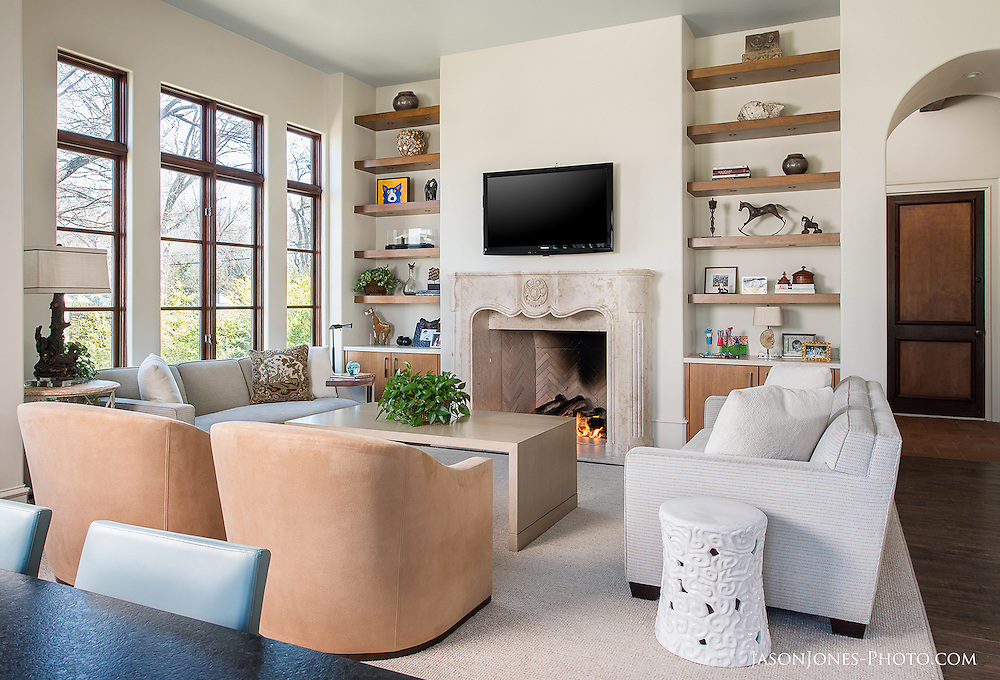 ASID award winning remodel of a contemporary living space