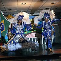 South America, Brazil. Amazon River. Dancers provide entertainment aboar the Ibeostar Grand Amazon.
