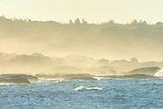 Fog at sunrise along the Atlantic Ocean<br />Peggy's Cove<br />Nova Scotia<br />Canada