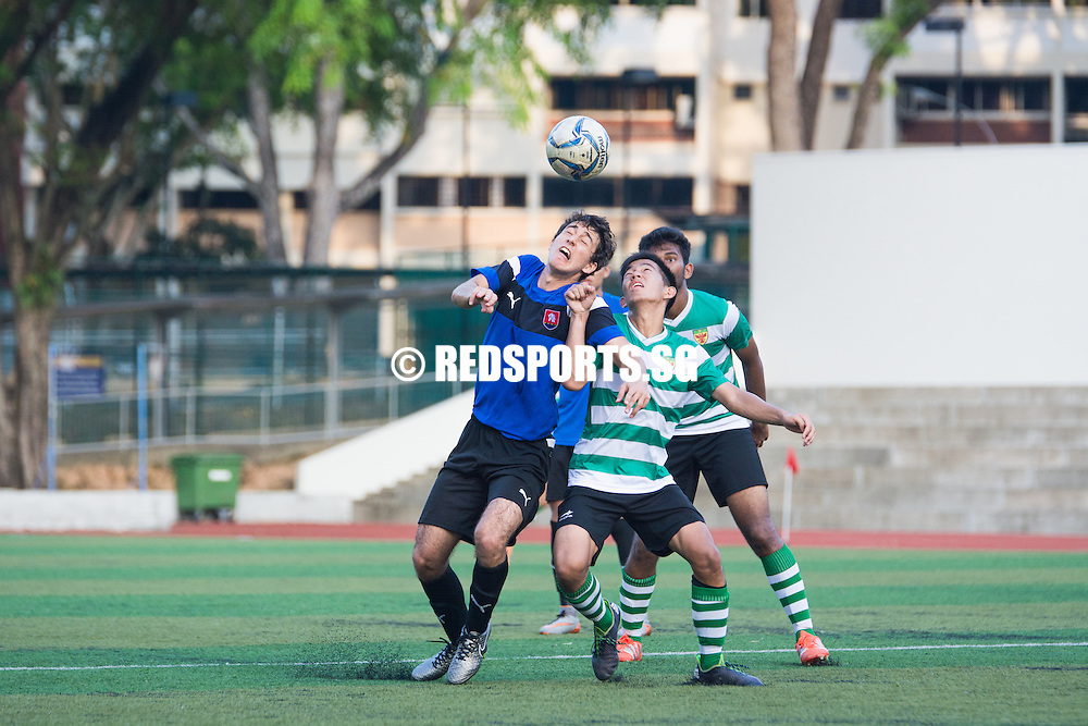 Players contest for the header. (Photo © Jerald Ang/Red Sports)