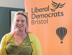 © Licensed to London News Pictures. 07/04/2019. Bristol, UK. MARY PAGE, Liberal Democrat candidate for the Bristol Mayoral election 2020, launches her campaign at the Arnolfini gallery. If elected, Mary's policies include tackling the city's pollution and campaigning to abolish the post of Bristol elected mayor for which she will have been elected. The earliest that the post of Bristol's elected mayor can be abolished by law will be 2022 following a referendum in Bristol.  Photo credit: Simon Chapman/LNP
