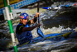 Kauzer Peter (8a) of Slovenia competing in Finals of Kayak (K1) Teams during Day 2 of 2018 ECA Canoe Slalom European Championships, on June 2nd, 2018 in Troja , Prague, Czech Republic. Photo by Grega Valancic / Sportida