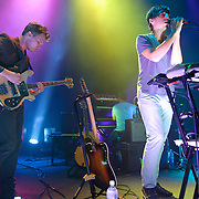 WASHINGTON, DC - September 20th, 2012 - Chris Taylor and Ed Droste of the indie-rock quartet Grizzly Bear perform during the first of two sold-out shows at the 9:30 Club in Washington, D.C. On Tuesday the band released their latest album, Shields, the follow up to 2009's critically acclaimed Veckatimest. (Photo by Kyle Gustafson/For The Washington Post)