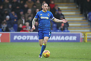 AFC Wimbledon defender Barry Fuller (2) dribbling during the EFL Sky Bet League 1 match between AFC Wimbledon and Northampton Town at the Cherry Red Records Stadium, Kingston, England on 10 February 2018. Picture by Matthew Redman.
