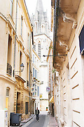 A narrow street in the old town. Montpellier. Languedoc. France. Europe.
