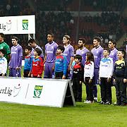 Orduspor's players during their Turkish Superleague soccer match Galatasaray between Orduspor at the AliSamiyen Spor Kompleksi TT arena in Istanbul Turkey on Monday 25 February 2013. Photo by Aykut AKICI/TURKPIX