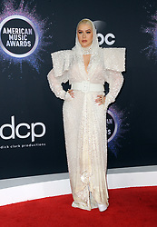 Christina Aguilera at the 2019 American Music Awards held at the Microsoft Theater in Los Angeles, USA on November 24, 2019.