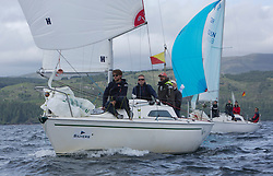 Silvers Marine Scottish Series 2017<br /> Tarbert Loch Fyne - Sailing<br /> <br /> GBR8901N, Wicked Wookie, Euan Aitken, CCC, Sonata OD<br /> <br /> Credit: Marc Turner