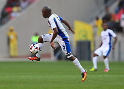 Strydom Wambi of Chippa United during the 1st leg of the MTN8 Semi Final between Chippa United and Mamelodi Sundowns held at the Nelson Mandela Bay Stadium in Port Elizabeth, South Africa on the 11th September 2016<br /><br />Photo by: Richard Huggard / Real Time Images