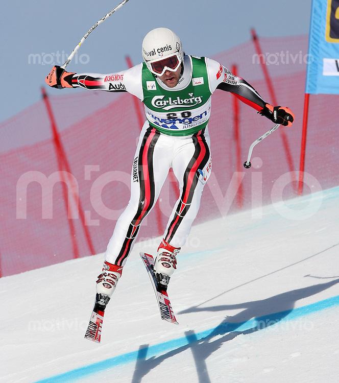 Ski Alpin; Saison 2006/2007  77. Weltcup Abfahrt Herren Training Pierre - Emmanuel Dalcin (FRA) an der Minschkante