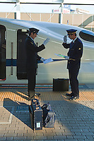 The N700 series is a Japanese Shinkansen high-speed train with tilting capability developed by JR for use on the Tokaido Shinkansen lines running between Tokyo - Kyoto - Osaka. N700 series trains have a maximum speed of 300 km/h and tilting of up to one degree allows the trains to maintain 270 km/h. Another feature of the N700 is that it accelerates quicker than other shinkansen trains, which enables it to reach 270 km/h in only three minutes