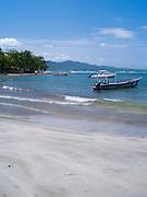 The beach near the center of Puerto Viejo, Limon, Costa Rica.
