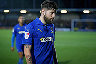 Goalscorer AFC Wimbledon midfielder Anthony Wordsworth (40) during the EFL Sky Bet League 1 match between AFC Wimbledon and Plymouth Argyle at the Cherry Red Records Stadium, Kingston, England on 26 December 2018.