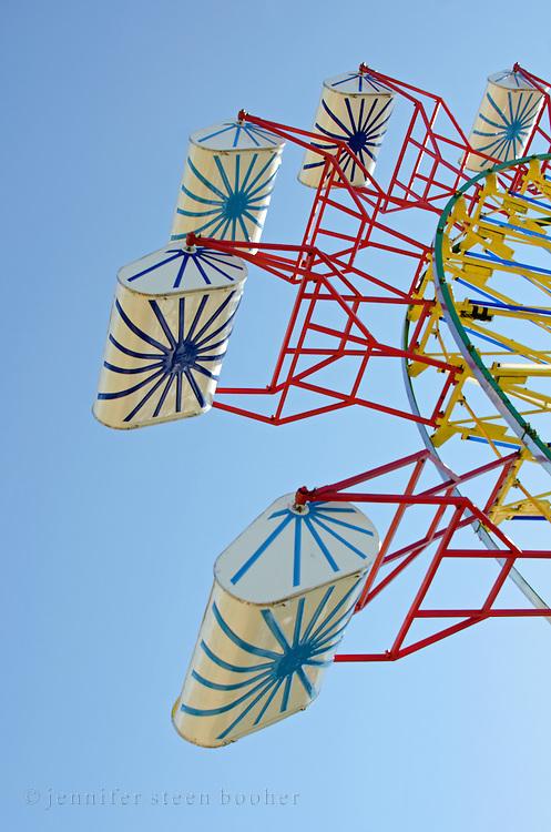 Starbursts painted on ferris wheels seats, Blue Hill Fair, Maine