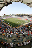20 May 2007: Vertical wide overview of the inside of the stadium during a 1-1 tie for MLS Chivas USA vs. Los Angeles Galaxy pro soccer teams at the Home Depot Center in Carson, CA.