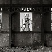 Three Blast Furnaces through Windows, Bethlehem Steel Mill, Bethlehem, PA