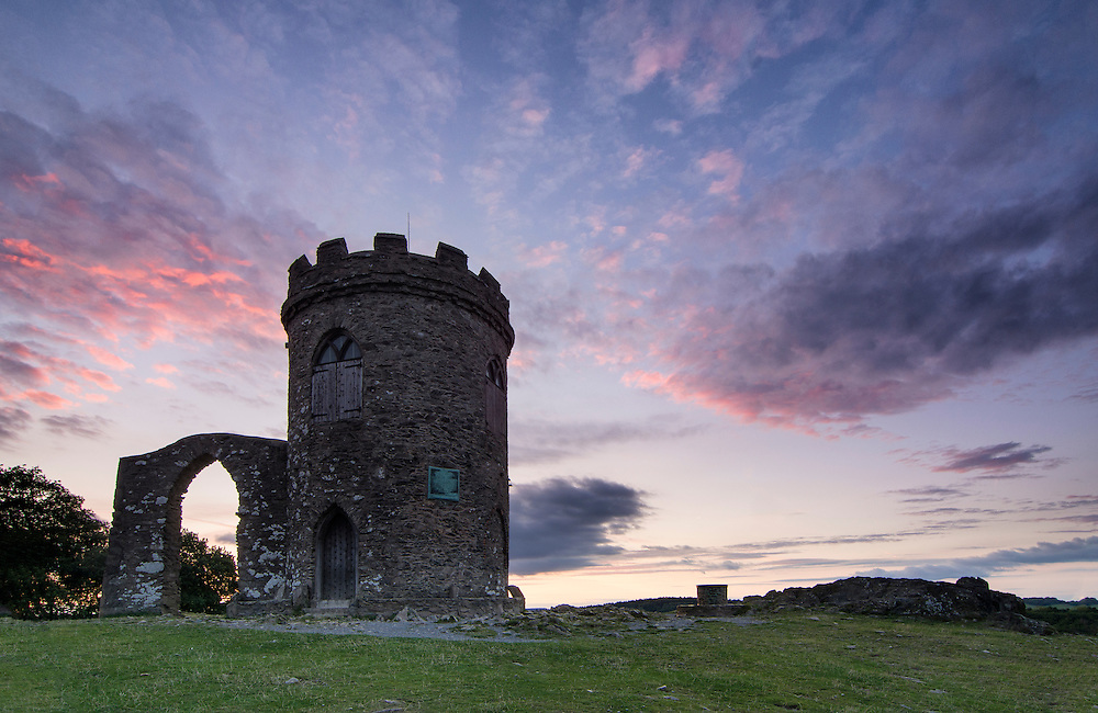 Sunset behind Old John at Bradgate Park, Leicestershire.