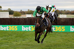Jonathan Burke on Nightfly wins the Danny Megson 40th Birthday Celebration Handicap Chase On Racing UK Handicap Chase during day two of The Bet365 Meeting at Wetherby Racecourse, Wetherby.