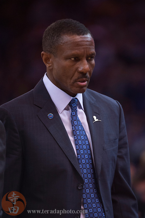 November 17, 2015; Oakland, CA, USA; Toronto Raptors head coach Dwane Casey during the second quarter against the Golden State Warriors at Oracle Arena. The Warriors defeated the Raptors 115-110.