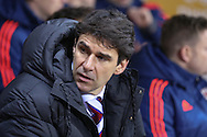 Middlesbrough Manager Aitor Karanka  during the Sky Bet Championship match between Rotherham United and Middlesbrough at the New York Stadium, Rotherham, England on 8 March 2016. Photo by Simon Davies.