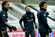 Leeds United midfielder Mateusz Klich (43) gestures and reacts warming up during the Premier League match between Newcastle United and Leeds United at St. James's Park, Newcastle, England on 26 January 2021.