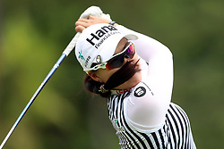 March 2, 2019 - Singapore - Minjee Lee of Australia tees off on the 9th hole during the third round of the Women's World Championship at the Tanjong Course, Sentosa Golf Club. (Credit Image: © Paul Miller/ZUMA Wire)