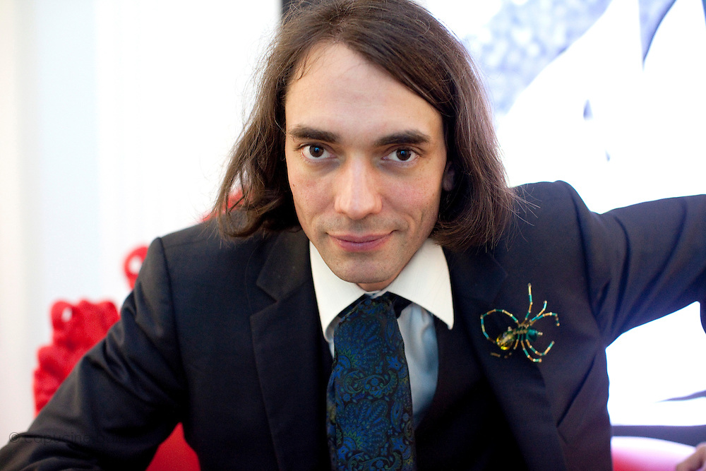 Fondation Cartier. Paris, France. October 18th 2011..French mathematician Cedric Villani