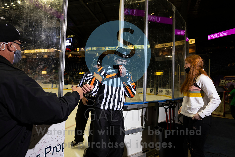The Youngstown Phantoms defeat the Muskegon Lumberjacks 4-3 in overtime at the Covelli Centre on April 17, 2021.