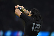 Ma'a Nonu of New Zealand looks on. Rugby World Cup 2015 quarter-final match, New Zealand v France at the Millennium Stadium in Cardiff, South Wales  on Saturday 17th October 2015.<br /> pic by  Andrew Orchard, Andrew Orchard sports photography.