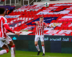 James McClean of Stoke City throws in - Mandatory by-line: Nick Browning/JMP - 23/12/2020 - FOOTBALL - Bet365 Stadium - Stoke-on-Trent, England - Stoke City v Tottenham Hotspur - Carabao Cup