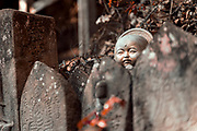 Buddhist statues along the route of the Shikoku 88 temple pilgrimage, Japan, February 3, 2012.
