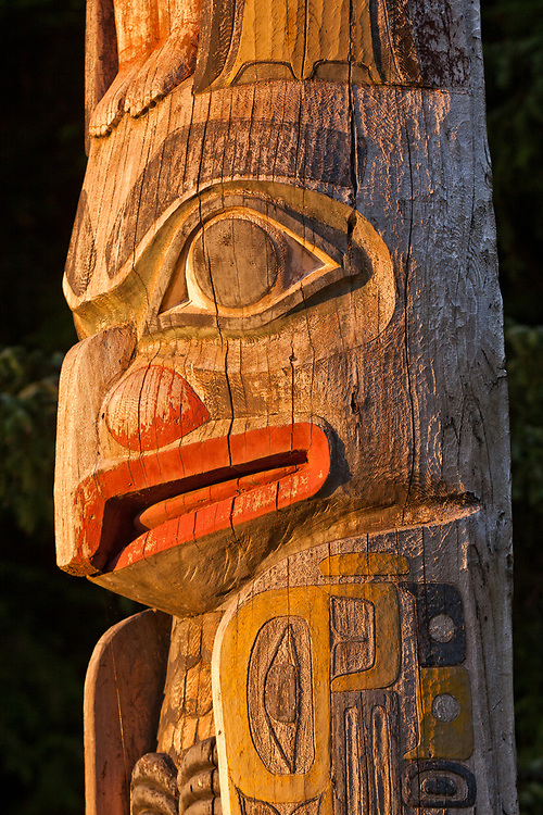Totem at Totem Bight State Historic Park near Ketchikan, Alaska