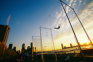 Trapeze School along the Hudson River in New York City