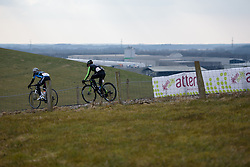 Descending off the VAMberg at Drentse 8 van Westerveld 2018 - a 142 km road race on March 9, 2018, in Dwingeloo, Netherlands. (Photo by Sean Robinson/Velofocus.com)