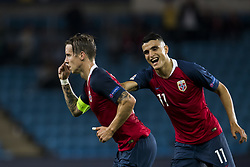 September 6, 2018 - Oslo, NORWAY - 180906 Stefan Johansen of Norway celebrates with Mohamed Elyounoussi of Norway after scoring 2-0 during the Nations League match between Norway and Cyprus on September 6, 2018 in Oslo..Photo: Jon Olav Nesvold / BILDBYRÃ…N / kod JE / 160308 (Credit Image: © Jon Olav Nesvold/Bildbyran via ZUMA Press)
