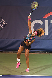 August 2, 2018 - Washington, D.C, U.S - NAOMI OSAKA hits a serve during her 3rd round match at the Citi Open at the Rock Creek Park Tennis Center in Washington, D.C. (Credit Image: © Kyle Gustafson via ZUMA Wire)