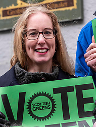 Pictured: Lorna Slater<br /><br />Scottish Green Party co-leader Lorna Slater and Lothian MSP Alison Johnstone joined Edinburgh General Election candidates as they canvased voters..<br /><br />Ger Harley | EEm 12 November 2019